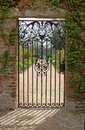 A Closed Iron Gate Royalty Free Stock Photo