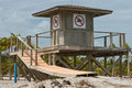 Closed Lifeguard Stand Royalty Free Stock Image