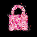 Closed lock, floral style. Stock Photography