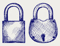 Closed locks security icon Stock Image