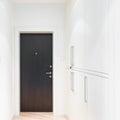 Closed metal door. Royalty Free Stock Photo