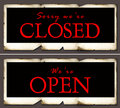 Closed & open Stock Photos