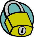 Closed padlock vector illustration Royalty Free Stock Photography