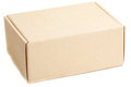 Closed pasteboard box Royalty Free Stock Photo