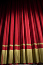 Closed red curtain Stock Photos
