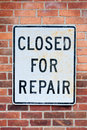 Closed for Repair Royalty Free Stock Photos