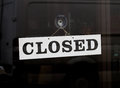 Closed Sign on a Door Royalty Free Stock Photo