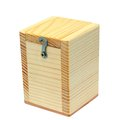 Closed small wooden box isolated over white background Royalty Free Stock Photo