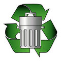 Closed trash can Royalty Free Stock Images