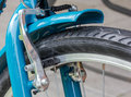 Closed Up of Front Bicycle Brakes Royalty Free Stock Photo