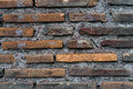 Closed up of grunge aged brick wall texture as background Royalty Free Stock Photo