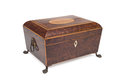 A Closed Vintage Legged Wooden Jewelry Box Royalty Free Stock Photo