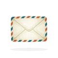 Closed vintage mail envelope