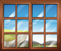 A closed window illustration of Royalty Free Stock Photos
