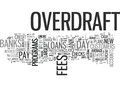 A Closer Look At Pay Day Loans Vs Bank Overdraft Fees Word Cloud Royalty Free Stock Photo