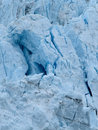 Closer view of the face of margerie glacier turquoise color ice on bay national park Stock Photo