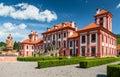 Closer view to troja palace prague czech republic Royalty Free Stock Photo