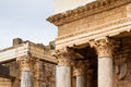 Closeu of Antique Roman Theatre Royalty Free Stock Photo
