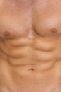 Closeup on abdominal muscles Royalty Free Stock Photo