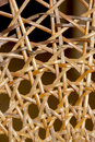 Closeup abstract of patterns and wicker weave on chair textures Stock Image