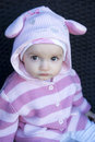 Closeup of adorable baby girl Royalty Free Stock Images