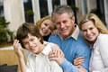 Closeup of affectionate family Royalty Free Stock Photo
