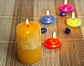 Closeup aroma candles Royalty Free Stock Image