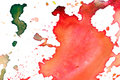 Closeup of artist's watercolor palette Stock Photo