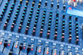Closeup of audio mixer Royalty Free Stock Photo