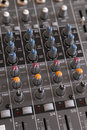 Audio mixer knobs Royalty Free Stock Photo