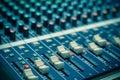 Closeup audio mixer music amd sound Royalty Free Stock Photo