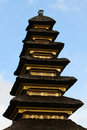 Closeup of Balinese temple roof Royalty Free Stock Photo