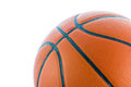 Closeup basketball or basket ball isolate on white background Royalty Free Stock Images