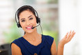 Closeup beautiful business customer service woman smiling Stock Photos