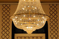 Closeup of a beautiful chandelier light Royalty Free Stock Photos