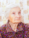 Closeup of a beautiful retired senior happy woman Royalty Free Stock Image