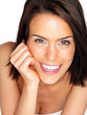 Closeup of a beautiful young woman smiling Stock Image