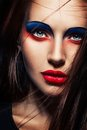 Closeup beauty creative makeup woman face Royalty Free Stock Images