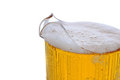 Closeup of a Beer Pitcher Royalty Free Stock Photography