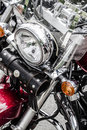 Closeup of a big chromium motorcycle engine shiny chrome plated motorbike s chromed bikes in street silver Stock Photography