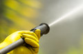 Closeup black head of high pressure water cleaner Royalty Free Stock Photo