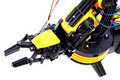 Closeup black and yellow robotic arm Royalty Free Stock Images