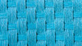 Closeup on blue straw cloth as background Royalty Free Stock Image