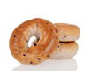Closeup blueberry bagels Royalty Free Stock Photo