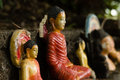 Closeup of Broken Buddha Statues Royalty Free Stock Photo