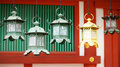 Closeup of bronze lanterns in Kasuga shrine Stock Images