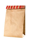 Closeup of a brown paper bag Royalty Free Stock Photo