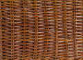 Closeup brown wicker basket Royalty Free Stock Photo