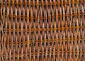 Closeup brown woven wicker backer Royalty Free Stock Image