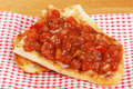 Closeup of bruschetta Royalty Free Stock Photo